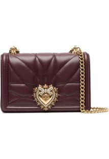 Dolce & Gabbana Bolsa Transversal Devotion Mini - Roxo