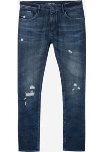 Calça John John Slim Noruega Jeans Azul Masculina (Jeans Medio, 46)
