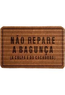 Capacho Carpet Não Repare A Bagunça Marrom Único Love Decor