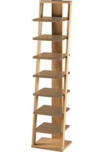 Estante Prateleira Suspensa Stairway Maxima Palha/Marrom Médio