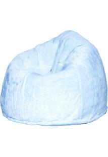 Puff Soft Pelúcia Branco