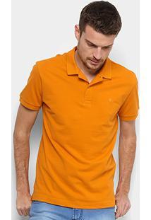 ... Camisa Polo Forum Piquet Masculina - Masculino-Laranja 9e7405528e59f