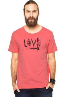 Camiseta Manga Curta Cavalera Love Rosa