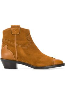 See By Chloé Western Ankle Boots - Marrom
