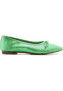 Sapatilha Ballerina Snake Emerald | Schutz