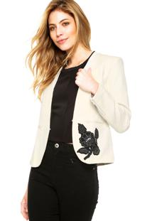 Blazer Desigual Bordado Off-White