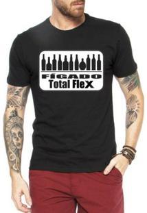Camiseta Criativa Urbana Engraçadas Fígado Total Flex - Masculino-Preto