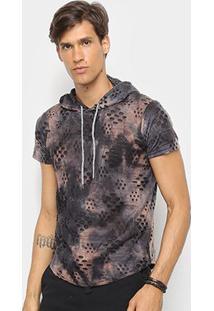 Camiseta Watkins & Krown Capuz Destroyed Masculina - Masculino
