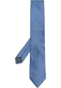 Ermenegildo Zegna Gravata De Seda Com Padronagem - Azul