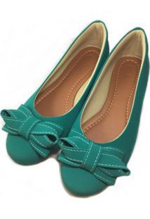 Sapatilha Likka Calçados Laço Verde