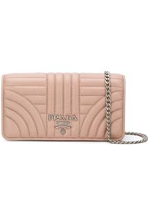 Prada Quilted Chain Wallet - Rosa