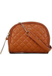 Bolsa Anacapri Mini Bag Npq Eco Napa Like Matelassê Feminina - Feminino-Marrom