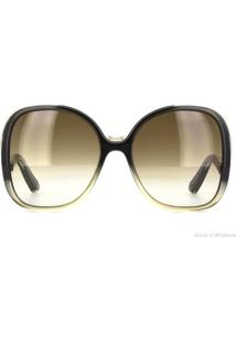 Óculos De Sol Chloé Ce714S 040/59 Cinza Degradê/Marrom