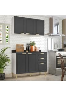 Cozinha Completa 3 Peã§As Americana Multimã³Veis 5922 Branco/Grafite - Branco/Incolor - Dafiti
