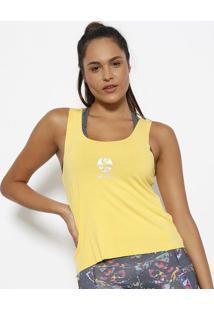 Regata Com Recortes - Amarela & Branca - Physical Fiphysical Fitness