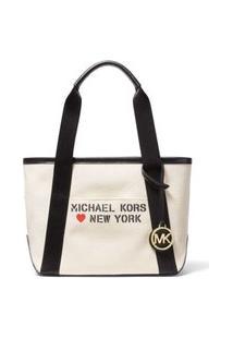 Bolsa Tote The Michael Bag Pequena De Algodão 30S0G01T7I270