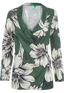 Blazer Feminino Floral Nath - Verde