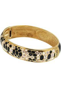 Bracelete Animal Print- Dourado & Preto- Ø4,7Cm-Guess