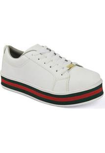 da1eea8f9 ... Tênis Flatform D R Shoes Casual Feminino - Feminino-Branco+Vermelho