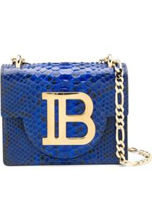 Balmain B-Bag 21 Cross Body Bag - Azul