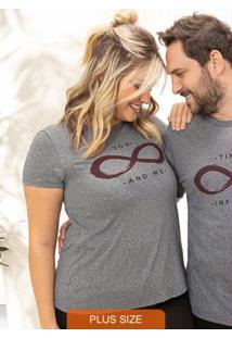 Blusa Cinza Escuro You And Me Essence