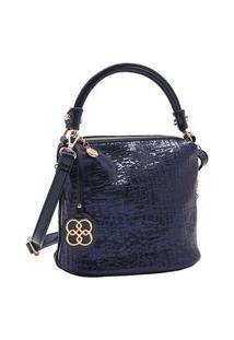 Bolsa Feminina Chenson Metalizado Glam Azul Marinho 3483185