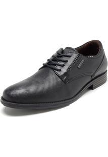 Sapato Couro Pegada Liso Preto
