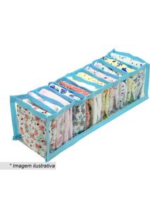 Organizador De Gaveta- Incolor & Azul Claro- 10X112Xvb Home
