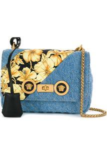 Versace Bolsa Jeans Com Estampa Barroca - Azul