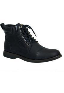 Coturno Masculino Gel Anatômico Em Couro Doctor Shoes - Masculino-Preto