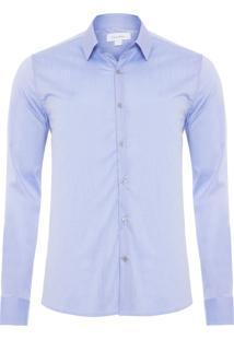Camisa Manga Longa Slim Geneva - Azul