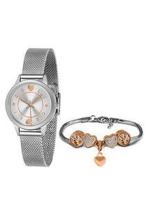 Kit Relógio Lince Lrmh149L Kz08S1Sx Analógico + Semijoia | Lince | Prata | U