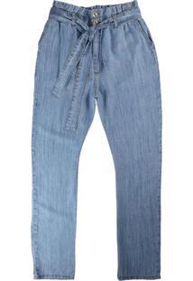 Calça Azul Claro Clochard Jeans Feminina