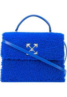 Off-White Bolsa 2.8 Jitney Furry - Azul
