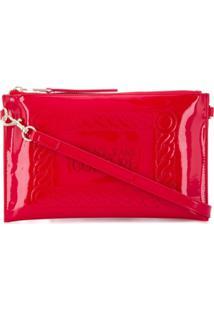 Versace Jeans Couture Clutch Com Gravação - Vermelho