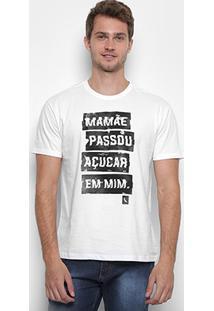 Camiseta Reserva Gola Careca Açúcar Masculina - Masculino-Branco