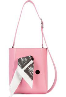 R  11275,00. Farfetch Bolsa Couro De Grife Tiracolo Feminina Kj Calvin  Klein Rosa ... 9bb002197e