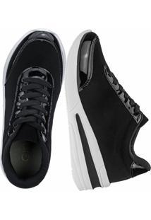 Tênis Sneaker Gigil Anabela Preto - Kanui