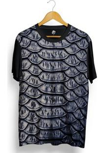 Camiseta Bsc Snake Leather Full Print - Masculino-Preto