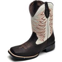 e3613153323 Bota Country Bico Quadrado Top Franca Shoes Cafe   Gelo