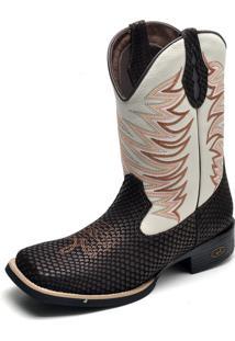 3aa6d1e6a6 ... Bota Country Bico Quadrado Top Franca Shoes Cafe   Gelo