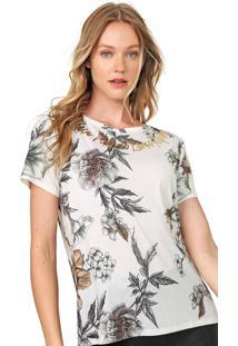 Camiseta Lança Perfume Floral Off-White/Verde