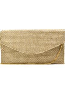 Bolsa De Festa Hendy Bag Envelope Palha