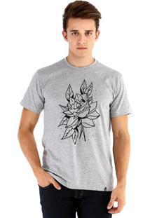 Camiseta Ouroboros Rosa Rústica Cinza