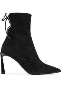 Lanvin Embellished Ankle Boots - Preto