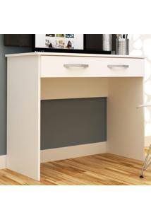 Mesa Para Computador 2 Gavetas Branco Brilho - Manto Móveis