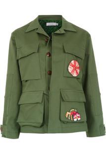 Isolda Jaqueta 'Army' Com Patch - Verde