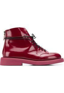 Marsèll Ankle Boot Envernizado - Vermelho