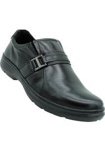 Sapato Couro Conforto Pegada Masculino - Masculino-Preto