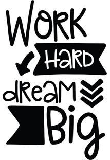 Adesivo Parede Quartinhos Quarto Frase Work Hard